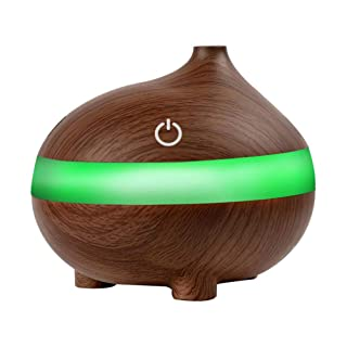 Vosarea 300ml USB Aria in Legno umidificatore Olio Essenziale diffusore Lampada Aroma Aromatherapy diffusore Elettrico Aroma per la casa (Modello di Bocca di Pesce, Colore Palissandro)