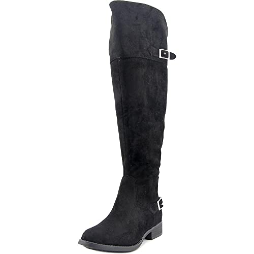 eae0e30c113 Image Unavailable. Image not available for. Color  American Rag Aada Wide  Calf Women Over The Knee Boot Black 7.5 M US