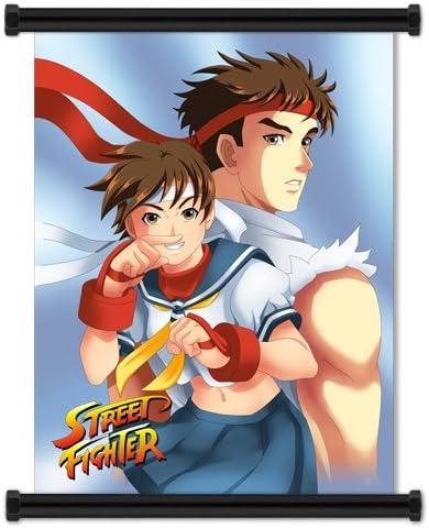 Street Fighter Anime Game Sakura And Ryu Fabric Wall Scroll Poster
