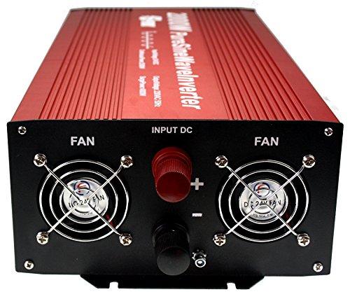 Spark 2000 watt pure sine wave power inverter 24v 4000W peak soft start