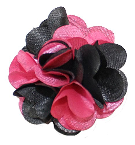 Ted and Jack - Classic Repp Two Tone Silky Flower Lapel Pin Boutonniere (Pink and ()