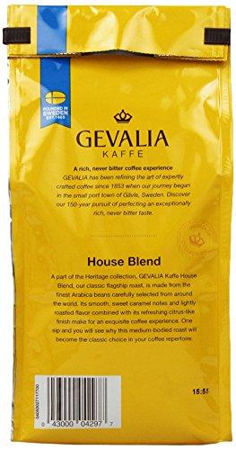 Gevalia Roast and Ground Coffee, House Blend Decaf, 12 Oz