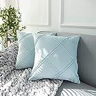 HIARUO 小清新丝绒装饰枕套 2个 18X18