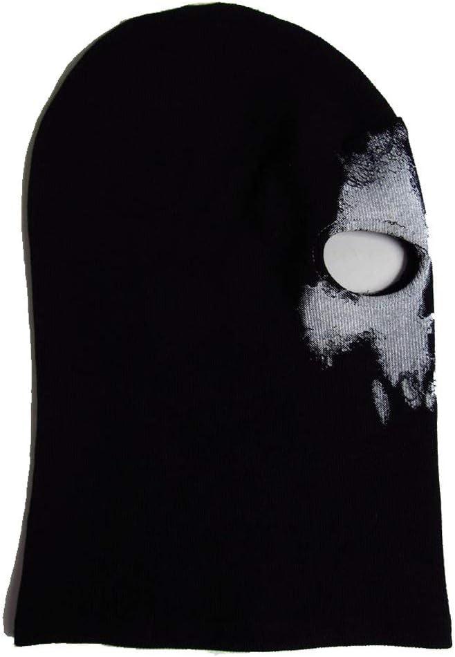 Mascarilla de calavera con fantasma negra CosInStyle