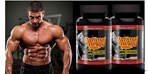 Optimal Energy 2080 Boost Build Muscle Mass Increase Stamina Stay Focus 90 Capsules