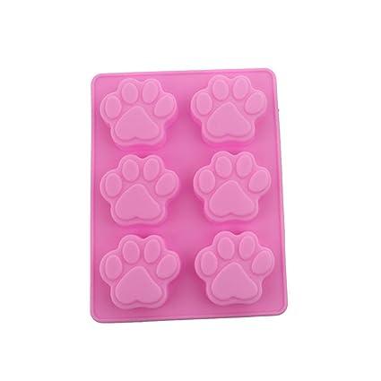 yinew 1pieza cachorro perro molde de silicona cookies molde de postre