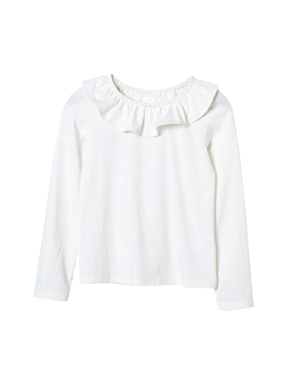 8053f5c933d41 Cyrillus T-Shirt col Pierrot Fille 10A Ecru  Amazon.fr  Vêtements et  accessoires