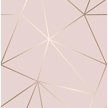 I Love Wallpaper Zara Shimmer Rose Tendre Du Papier Peint Metallise