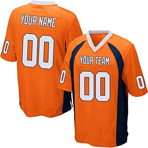 YNMYS Custom Football Team Designated Player Game Jersey #3-#18 Men 4XL Orange