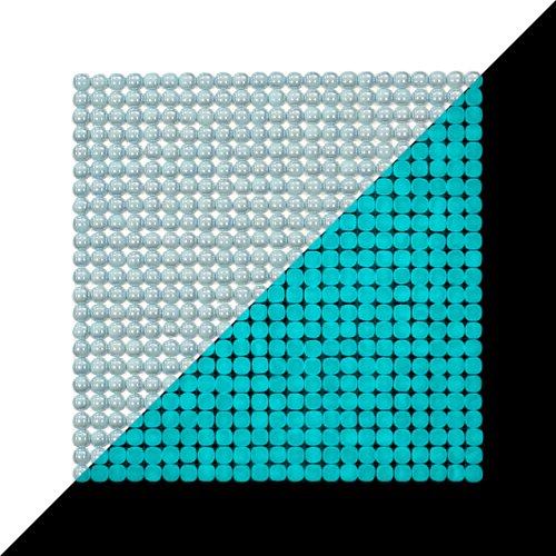 Illumino Lacrimae Lucis LT.Blue/Aquamarine Glow-in-The-Dark Glass Tile / 1 Sheet 12.2