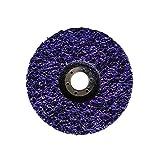 Taipan Abrasives TO-7008  Original Strip & Finish Disc, Depressed, 7'' OD, 7/8'' Arbor, Purple, 6500 RPM