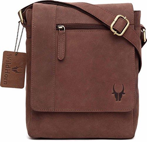 6248b295e03 WildHorn Leather 21.59 cms Brown Messenger Bag MB2051H