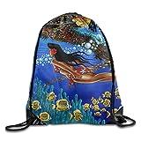 VIMMUCIR Black Girl Swimming In Hawaii Drawstring Backpack Rucksack Shoulder Bags Training Gym Sack For Man And Women
