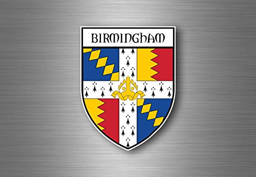 Sticker decal souvenir car coat of arms shield city flag birmingham england