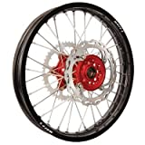 Warp 9 MX Complete Rear Wheel - Red Hub with Black Painted Rim (19x2.15'')