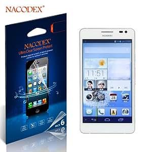 6pcs Nacodex® Hd Clear Anti-scratch Screen Protector Guard Film Shield for Huawei Ascend D2