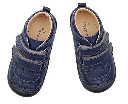 Anna und Paul , {Chaussures premiers pas pour bébé (garçon) Bleu Midnight Blau