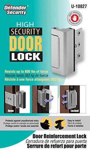 Defender Security U 10827 Door Reinforcement Lock Add