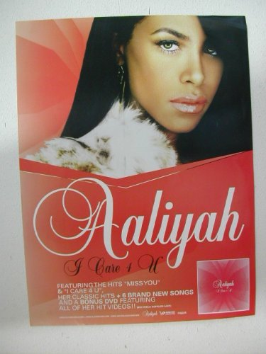 Poster Face Shot - Aaliyah Poster Incredible Face Shot I Care For You 4 U