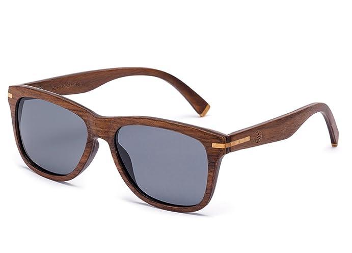 Amazon.com: Tree Tribe Polarized Wood Wayfarer Sunglasses - Cruiser ...
