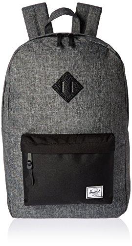 herschel-supply-co-heritage-backpack-raven-crosshatch-black-black-pebbled-leather