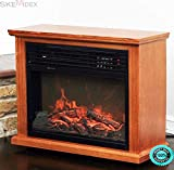 SKEMiDEX---Large Room Electric Quartz Infrared Fireplace Heater Deluxe Mantel Oak / Walnut This XtremepowerUS 1500W Infrared Fireplace can be installed anywhere since no venting is required