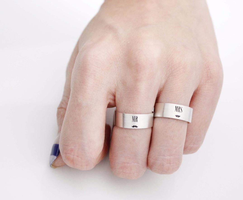 Amazon.com: 925 sterling silver Mr. Mrs. Ring , Couple Rings,Custom ...