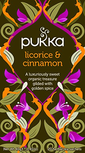 Pukka Herbs Organic Herbal Tea, Licorice and Cinnamon, 20 Count (Pack of 6)