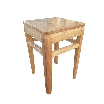 Amazon.com: ZXIA Solid Wood Square Stools Still Creative ...