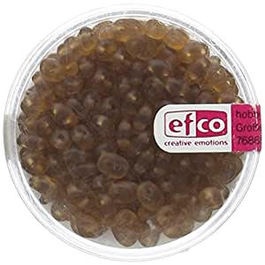 efco SUPERDUO Perla de vidrio, de plástico, marrón mate, 4x 2mm, 10g