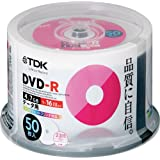 TDK データ用 DVD-R 1-16倍速対応 ホワイトワイドプリンタブル 50枚 スピンドル DR47PWC50PU