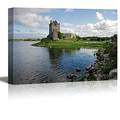 Canvas Prints Wall Art - View of The Dunguaire Castle, Kinvara Bay, Galway, Ireland | Modern Wall Decor/Home Decoration Stretched Gallery Canvas Wrap Giclee Print. Ready to Hang - 32