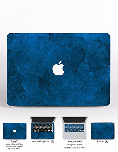 Apple Decal Macbook Air 11 13 Pro 13 15 Pro Retina MacBook 12 2016 2017 Mac Custom Macbook Skins Vinyl Stickers Laptop Cover Case Gift Design Sticker Blue Stoned Marble (Stoned Designs)