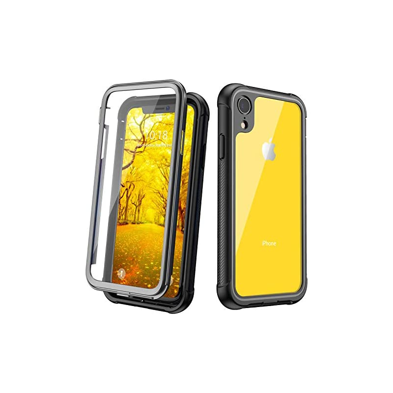 JUSTCOOL iPhone XR Case, Clear Full Body