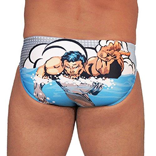 Diapolo Superheroes Swimmer Herren Badehose Schwimmhose aus der Comics Kollektion für Schwimmen Wasserball Triathlon