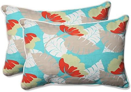 Editors' Choice: Pillow Perfect Outdoor/Indoor Avia Surf Over-Sized Rectangular Throw Pillow Set of 2