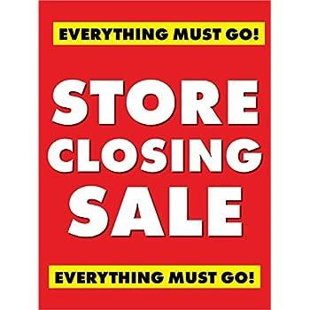 Amazon.com: Tienda cierre Todo Lo debe Go. Ventana venta ...