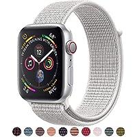 Tces Sport - Correa de repuesto para reloj Apple Watch de 1.496in y 1.654in, suave y ligera, transpirable, de nailon, para iWatch Apple Watch Serie 3 2 1, Hermes, Nike+, Edition