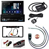"""Pioneer 1-DIN Multimedia DVD Receiver with 7"""" WVGA Display, Apple CarPlay Android Auto Built-in Bluetooth SiriusXM SXV300v1 Satellite Radio W/PAC TR1 Video Lockout Bypass"""