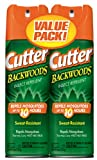 Cutter 2-Pack Backwoods Aerosol Insect Repellent, 6-Ounce