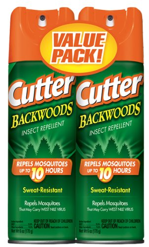 Cutter Backwoods Insect Repellent, Aerosol Spray, 2/6-oz