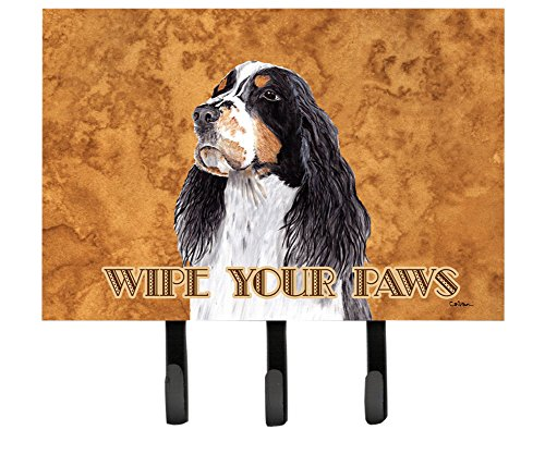 Caroline's Treasures SC9134TH68 Springer Spaniel Wipe your Paws Leash or Key Holder, Large, Multicolor (Springer Holder Spaniel Leash)