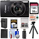 Cheap Canon PowerShot Elph 360 HS Wi-Fi Digital Camera (Black) with 32GB Card + Battery & Charger + Flex Tripod + Kit
