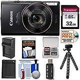 Cheap Canon PowerShot Elph 360 HS Wi-Fi Digital Camera (Black) with 32GB Card + Battery & Charger + Flex Tripod + Kit