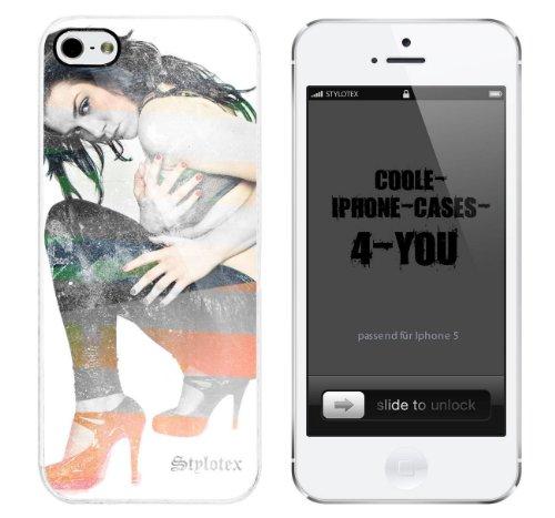 Iphone 5 / 5S Schutzhülle La Chica - weisser Rahmen