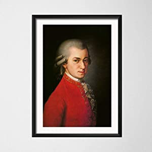 Wolfgang Amadeus Mozart Portrait Canvas Painting Famous Musician Modern Bedroom Decor Wall Art Nordic Fashion Home Print Posters 40x60cm No Frame