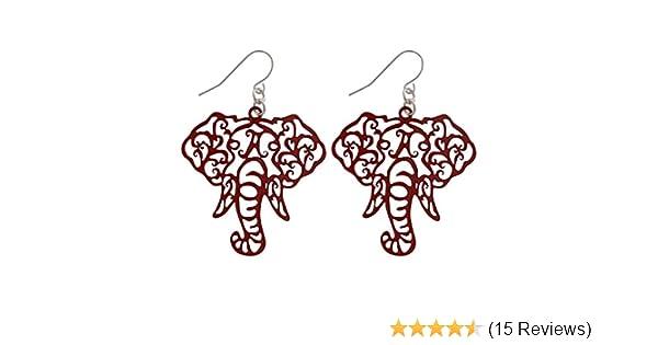 2e3d7e1cc Amazon.com: Crimson Elephant Head Filigree Fishhook Earrings: Sports &  Outdoors