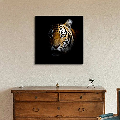 Tiger Head in Dark Home Deoration Wall Decor