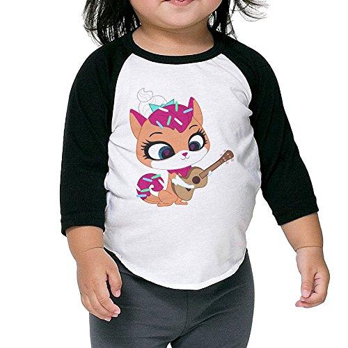Cayonom Child Kids Beauty Cat With Guitar Baseball Raglan Jersey 4 Toddler (Ratchet Costume)