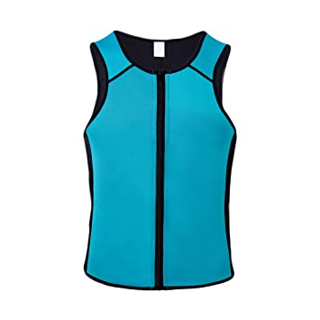 06bfdfda47 Image Unavailable. Image not available for. Color  Allywit Men Sauna Sweat  Vest Weight Loss Waist Trainer Vest Neoprene Tank Top Shapewear Slimming  Shirt